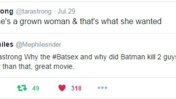 "Tara Strong's reply to a tweet about ""The Killing Joke"""