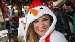 Rebecca Rosenfeld of Marlboro showed up as a snow woman