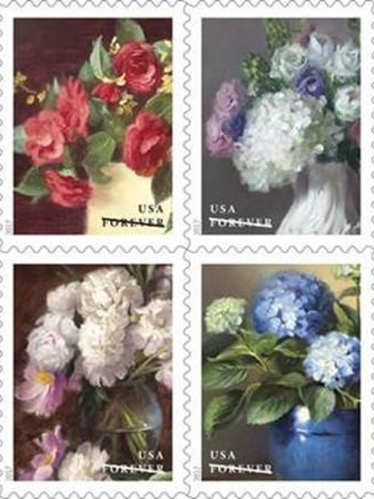 New floral stamps