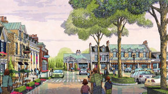 Early plans for the Shoppes at Gardiner Park