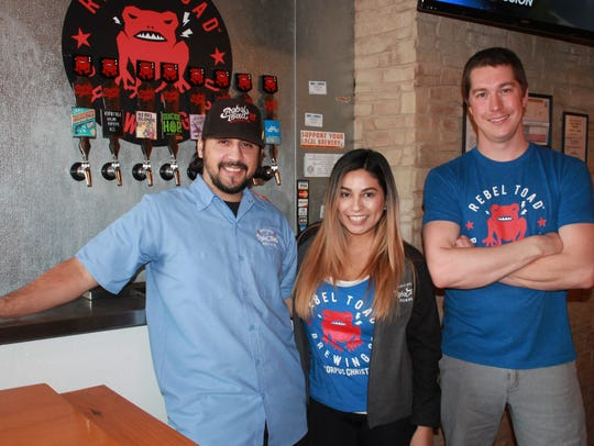 Rebel Toad Brewing owners, Hector Cavazos (from left),