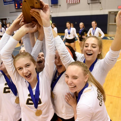 Photos: Delone and York Catholic battle in girls' volleyball final