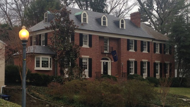 Evan and Susan Bayh's house in northwest Washington, D.C., that they have tried to sell and now use as a rental property.