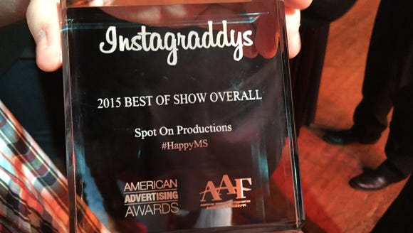 """Spot On Productions won the """"Best of Show Overall"""""""