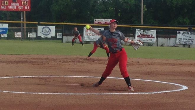 Adamsville pitcher Parker Davis allowed no hits and struck out 12 batters Thursday, sharing tournament MVP honors with teammate Gabby Morris.