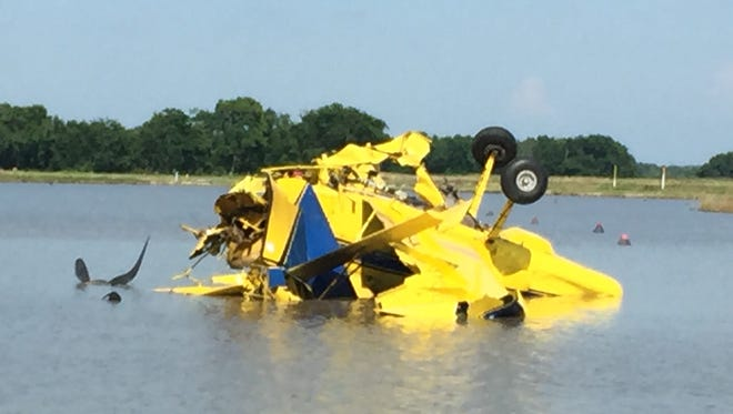 A crop duster plane that crashed Thursday in Branch.