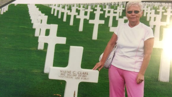 Leah Woods has visited her father's grave in the Netherlands American Cemetery in Margraten twice.