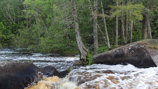 Roaring rapids along the Peshtigo River in Marinette County draw thousands of visitors annually for fishing, rafting and watching wildlife.
