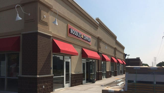 The new Noodles and Co. continues to progress on the 1500 block of South Koeller, along with Ross Dress for Less, a budget retail chain.