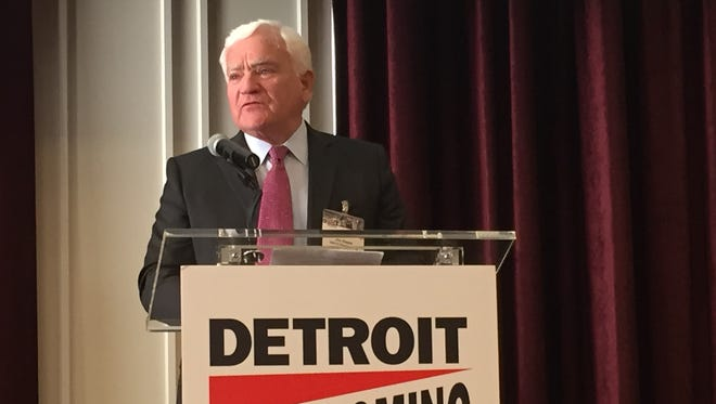 Jim Hayes, co-director of Homecoming Detroit and retired publisher of Fortune Magazine, announces plans for the upcoming event on Wednesday, Aug. 5.