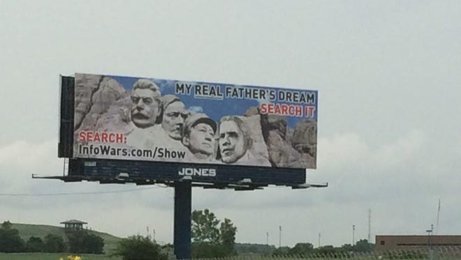 A new ad along Interstate 41 likens President Obama to Joseph Stalin, Adolf Hitler and Mao Zedong. The Billboard went up Aug. 3 and will stay up through July 31, 2016.