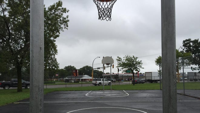 The basketball court at Carlin Park in St. Cloud.