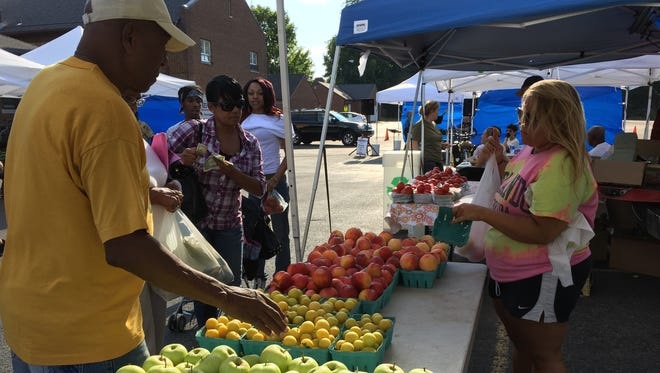 The Westside Farmers Market promotes healthy eating. Every Tuesday during the season health reporter Patti Singer talks to a health-care provider and hosts a Q&A and a walk, Walk and Talk With a Doc.