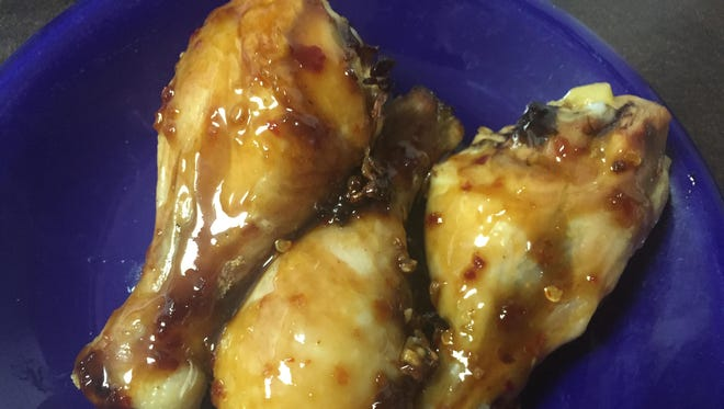 Chicken wings with a Cambodian-influenced glaze.