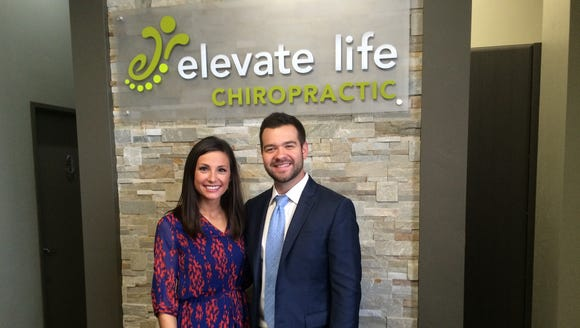 Dr. Wade Trzebiatowski and his wife, Danielle, are