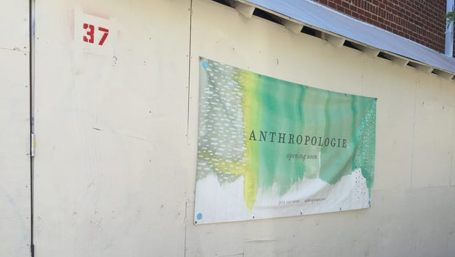 Work continues at the future site of Anthropologie in downtown Asheville at 37 N. Lexington Ave.