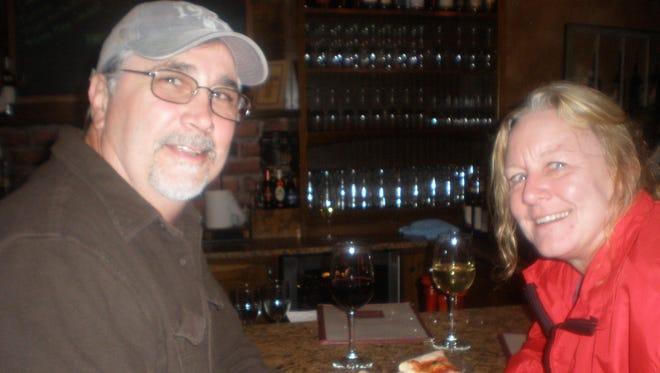 Tom and Sandy Leighton enjoy the PennTasteTic Downtown Plymouth Restaurant Crawl.