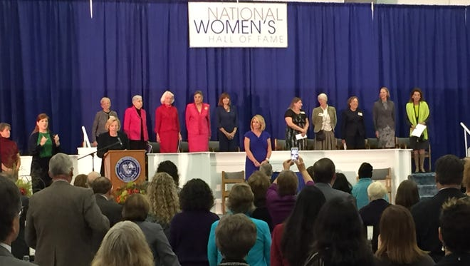 Ten women are inducted into the National Women's Hall of Fame on Saturday in Seneca Falls.
