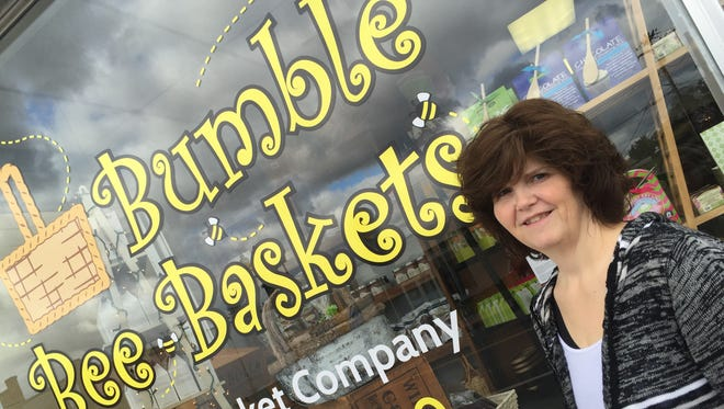 Owner Melody Tereska, of Sherburne, opened Bumble Bee Baskets Oct. 12 at 124 W. Main St. in Endicott.