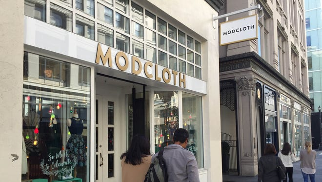 ModCloth, an online retailer whose short-term pop up brick and mortar store proved so popular in San Francisco that it's stayed open for months.