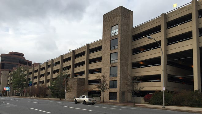 """Municipal garage at the Galleria mall in White Plains, where Concetta """"Connie"""" Russo was murdered in 2005."""