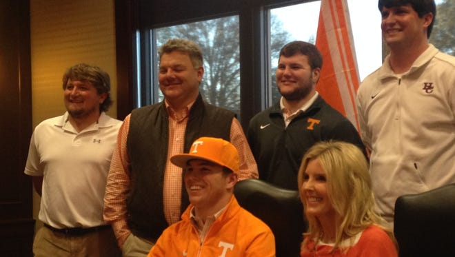 Hardin County senior Cal Gobbell signs a letter of intent Thursday to play baseball at the University of Tennessee.