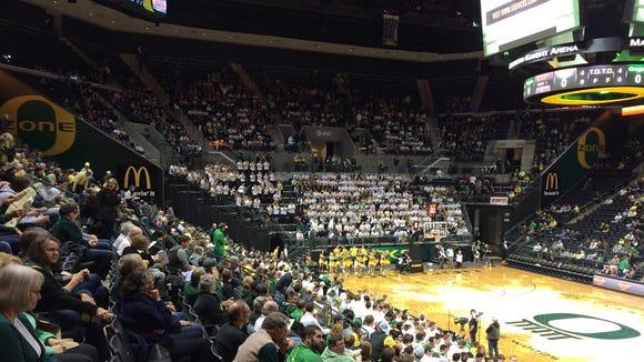 Oregon hosts Baylor.