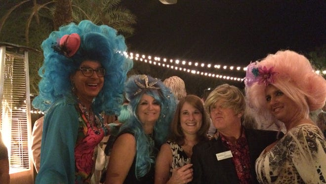 Bella da Ball on far left at the Meet the Galen Big Hair Ball in Palm Desert.