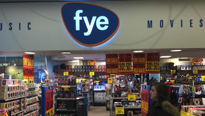 F.Y.E. in Burlington Town Center mall is closing on Jan. 27.