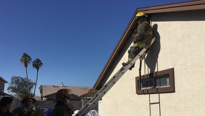The Phoenix Fire Department was called to a chimney fire on 78th Drive just south of Camelback Road Friday afternoon