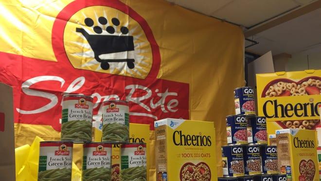 A display inside a ShopRite supermarket on Jan. 14, 2016.