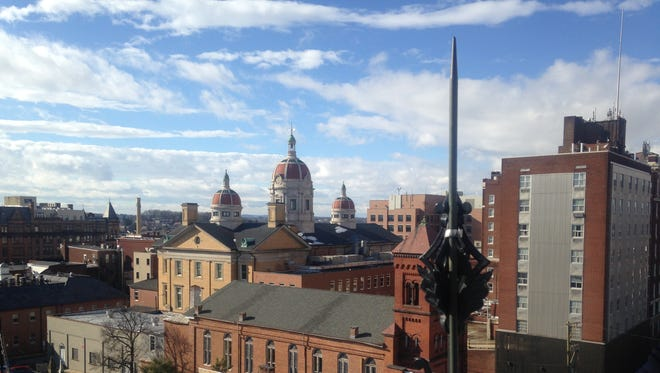 A view of downtown York from the cupola atop York City Fire/Rescue Services' Laurel Station.