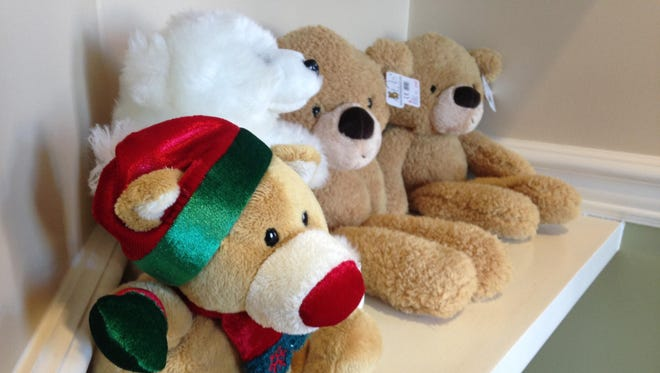 Children receive a teddy bear after they complete the program at the Child Advocacy Center.