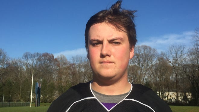 Rumson-Fair Haven's Kyle Knapp after playing CBA on April 12, 2016.
