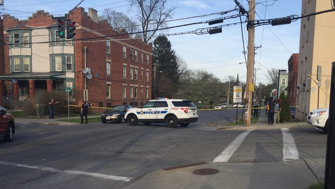 A section of Mansion Street in the City of Poughkeepsie was closed off after a child was struck by a vehicle, sustaining serious injuries.
