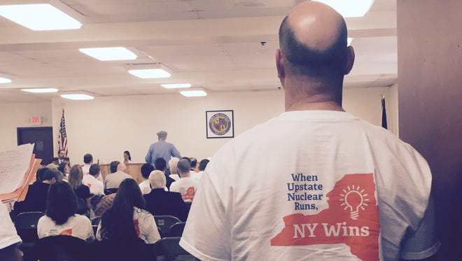 Upstate nuclear power plant workers turned out for Public Service Commission hearings on New York's nuclear future Tuesday