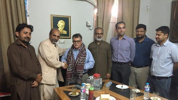 At the Karachi Press Club.