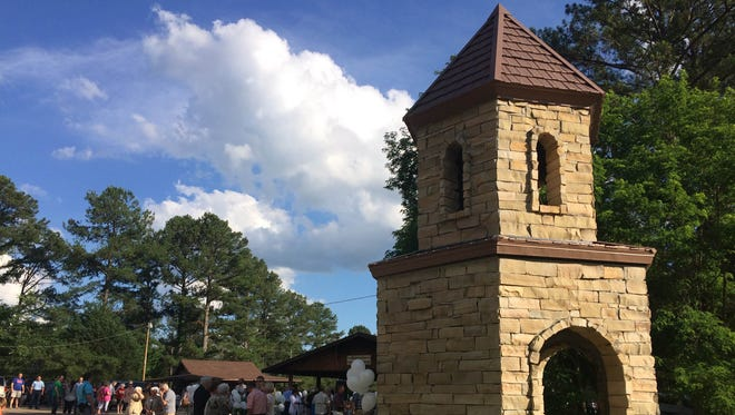 """""""The Amber Buckley Lyons Memorial Bell Tower was dedicated Sunday at Mid-South Youth Camp."""""""