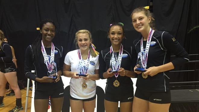 Munciana Lorax players Malayah Bryant, Kylie Murr, Kenzie Knuckles and Melani Shaffmaster were named All-Americans.