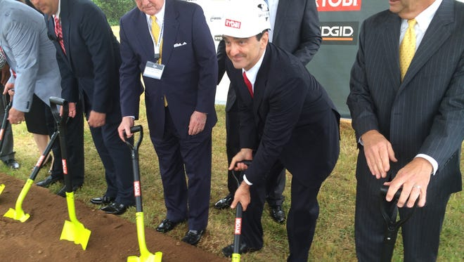 Joseph Galli Jr., CEO of TechTronic Industries, at a groundbreaking ceremony last year for the company's new distribution and assembly center along Interstate 85 in Anderson County.