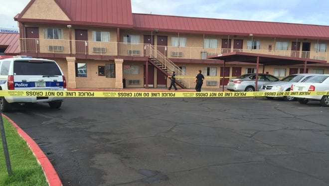A woman reported she was shot not far from the Knights Inn, at 1624 N. Black Canyon Highway, on July 18, 2016.