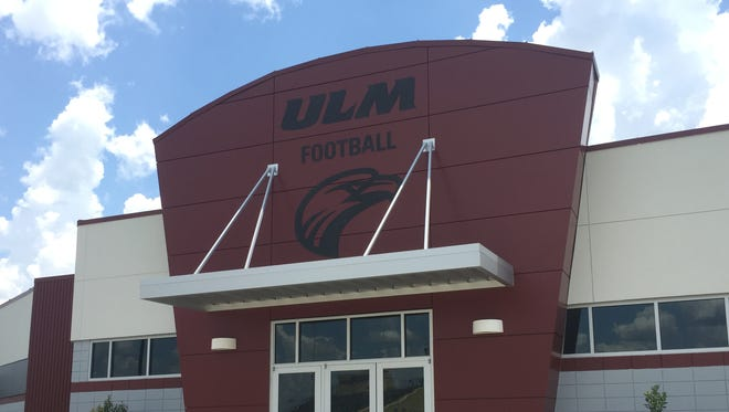 ULM's $4.1 million, 11,750-square foot field house includes a new locker room and coaches offices.