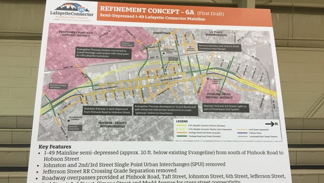 I-49 refinement concept 6A is among those advancing for further evaluation.