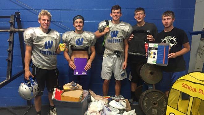 Pictured from left to right: Zach Hoffman, Robbie Miller, Tyler Glowaski, Blake Williamson and Austin Honaker