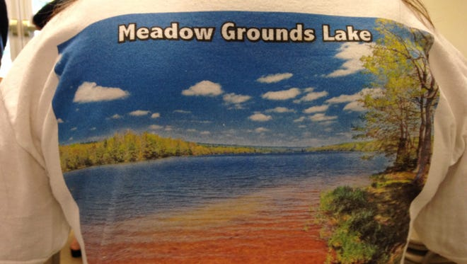 Friends of Meadow Grounds Lake made a t-shirt as a fundraiser to restore the lake inFulton County.