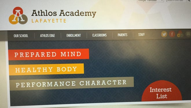Athlos Academies has established an online presence for a Lafayette campus, although the Lafayette school has not received final approval.