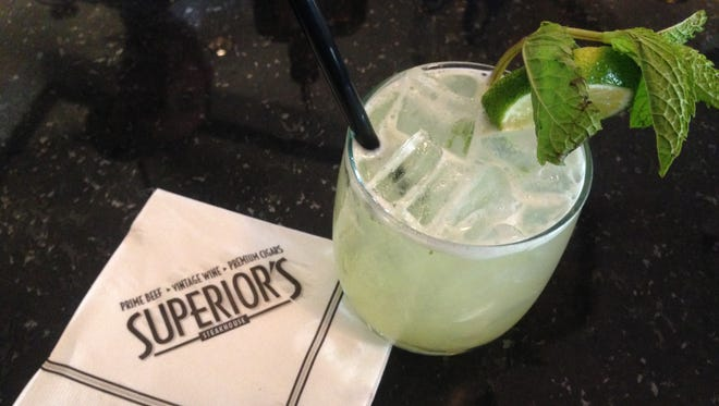 Pineapple Mint Margarita at Superior's Steakhouse.