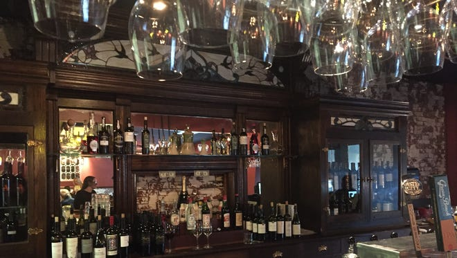 The antique bar adds a vintage look to Christoff's Bistro & Wine Bar.