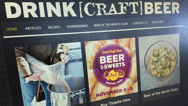 "DrinkCraftBeer.com homepage on October 11, 2016. Founder Jeff Wharton joined episode 18 of our craft beer podcast ""It's the Beer Talking."""