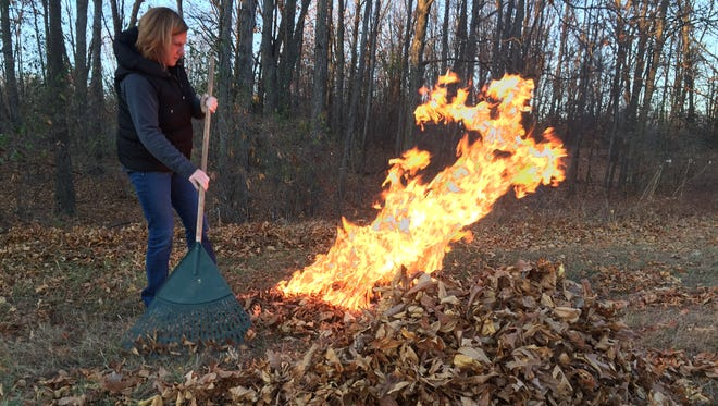 Burning leaves is permitted with a permit in Milford Township.